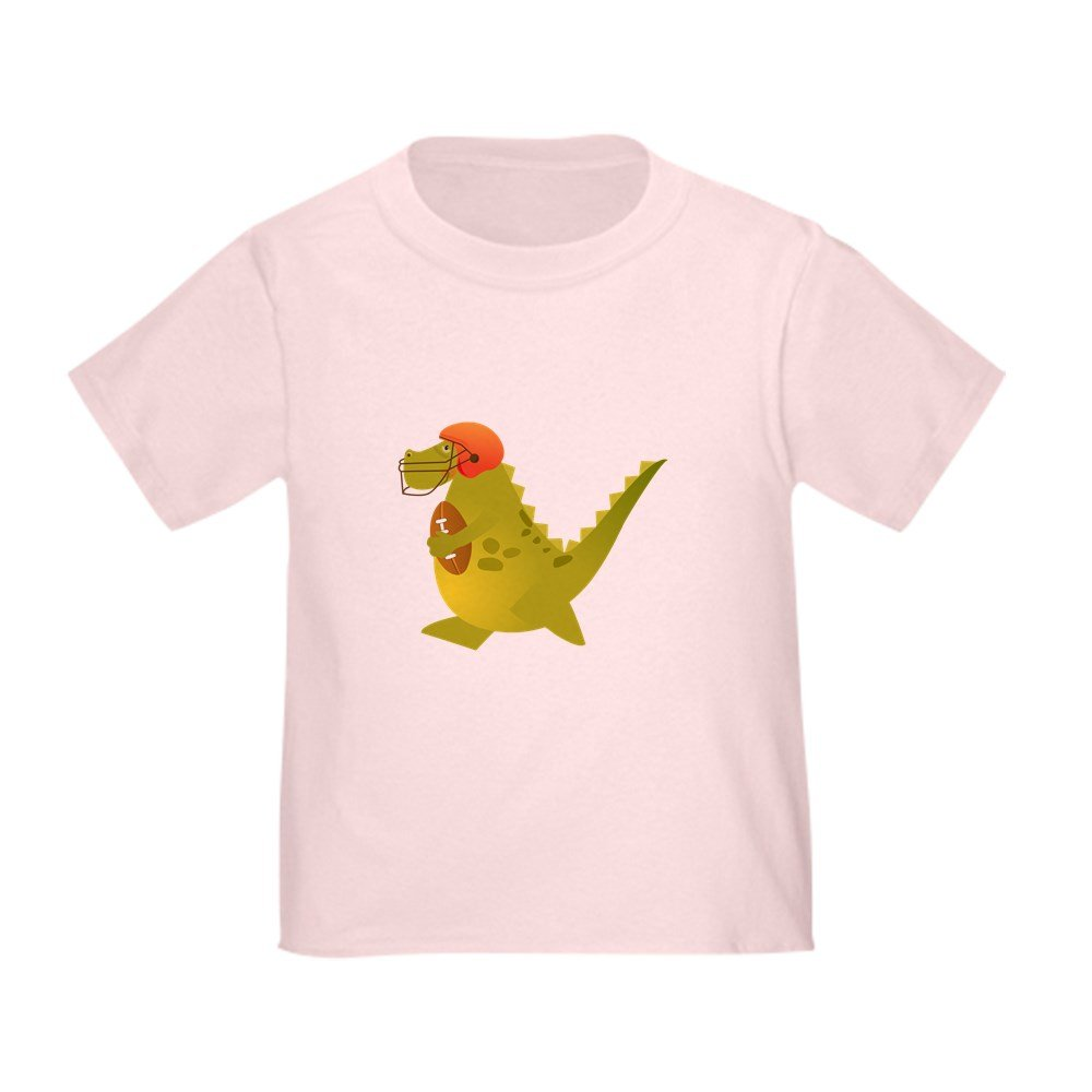 Truly Teague Toddler T-Shirt Football Playing Dinosaur