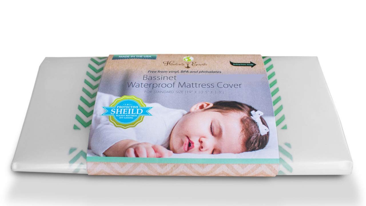 Waterproof Mattress Cover Harlows Earth Crib Bassinet Mattress Cover Toxic Gas Shield for Safe Sleep