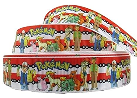 1 Metre Pokemon Go blanco rojo rayas Cartoon Cinta 1