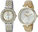 Burgi Women's BUR152YG Silver Quartz Watch Set Including BUR151YG And BUR126TTG