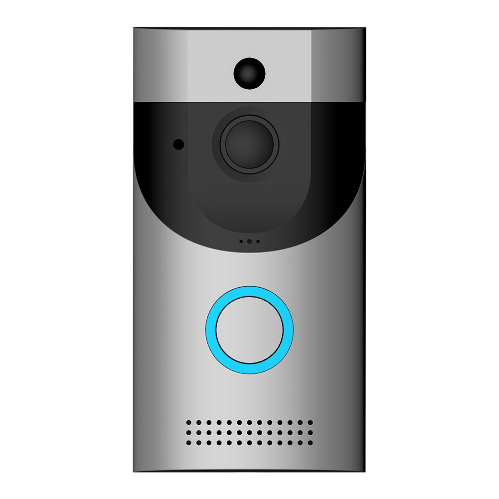 Video Doorbell, Awakingdemi Waterproof Smart Doorbell 720P HD WiFi Security Camera, Real-Time Two-Way Talk and Video, Night Vision, PIR Motion Detection and App Control for iOS, Android and Coogle
