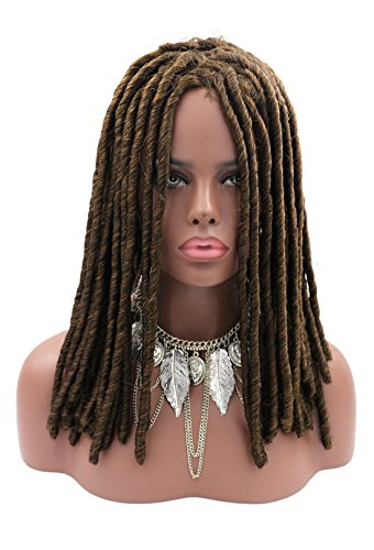 Blonde Long Wig With One Braid - Kalyss 100% Hand Braided Dreadlocks Braids