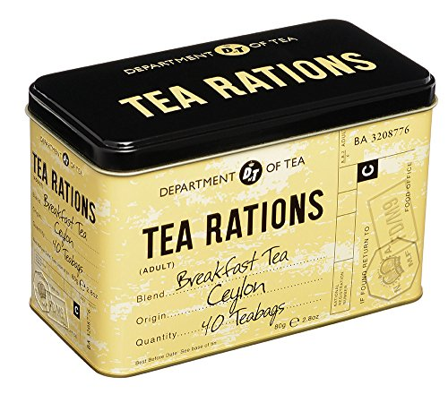 New English Teas - World War I Memorabilia Tea Rations Tea Gift Tin