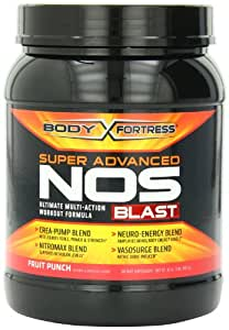 Body Fortress Super Nos Blast Fruit Punch, 2 Pounds