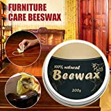 Beeswax Polish for Wood Natural Wax Wood Seasoning Beewax Complete Solution Furniture Care Beeswax Moisture Resistant 20g/200g