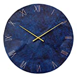 Large Round Copper Rustic Wall Clock 18-inch – Silent Non Ticking Gift for Home/Office/Kitchen/Bedroom/Living Room For Sale