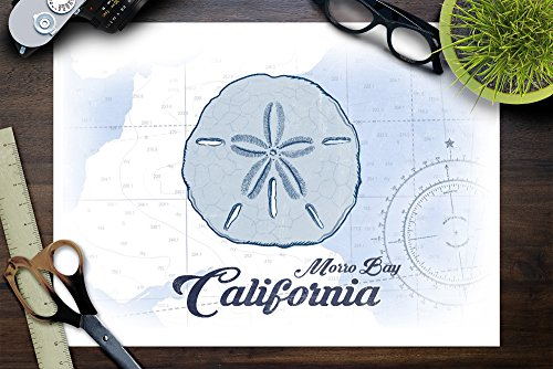 Morro-Bay-California-Sand-Dollar-Blue-Coastal-Icon-9×12-Collectible-Art-Print-Wall-Decor-Travel-Poster