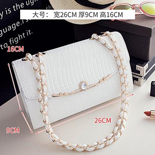 De La Sac La La Nouvelle Chaîne En Femmes White De Sacs Sac Mode Main Diagonale Marée À Paquet Petit MDRW wq0Ztz