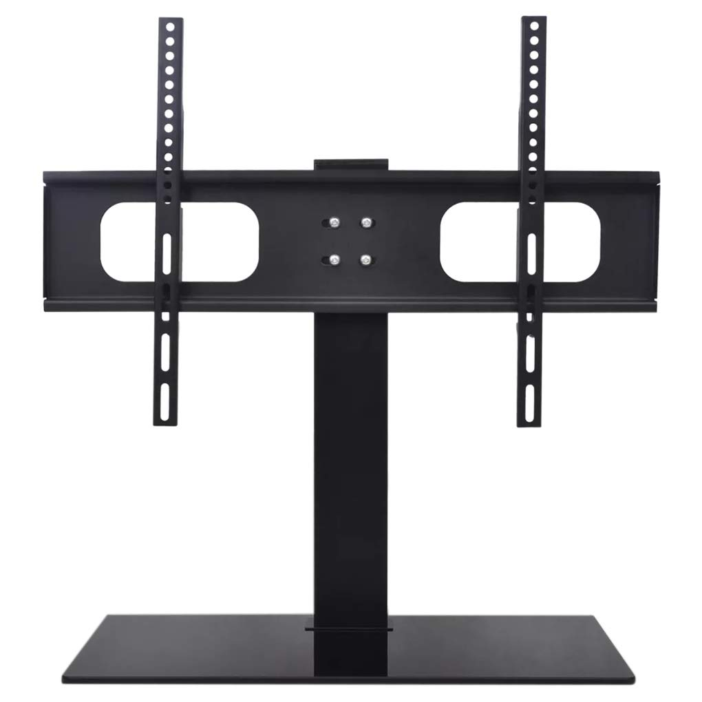 Rgmer TV Bracket with Base Adjustable Universal Tempered Glass Base TV Stand for 32-70 Inches TV's by Rgmer