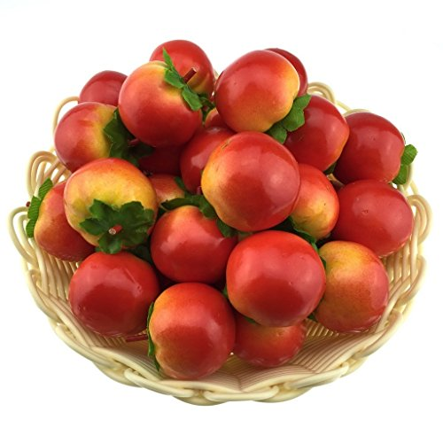 Gresorth 40pcs Artificial Lifelike Simulation Small Tomato Set Decoration Fake Fruit Home House Kitchen Decoration