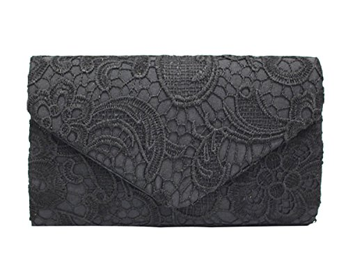 Bridal Lace 8 Wedding with Women's for Navy PB Shoulder Ladies Evening Cocktail Party SOAR Blue Prom Elegant Bag Clutch Handbag Perfect Chain Colours Available Black H8HawIq