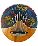 Thumb Pianos - Coconut Kalimba Wooden Hand Carved, Hand Painted Musical Instruments - (INS-TPM)