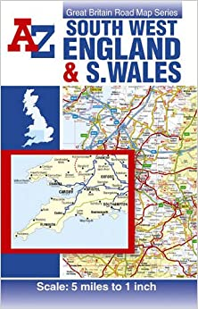 South West England And South Wales Road Map AZ Great Britain Road - Az road map