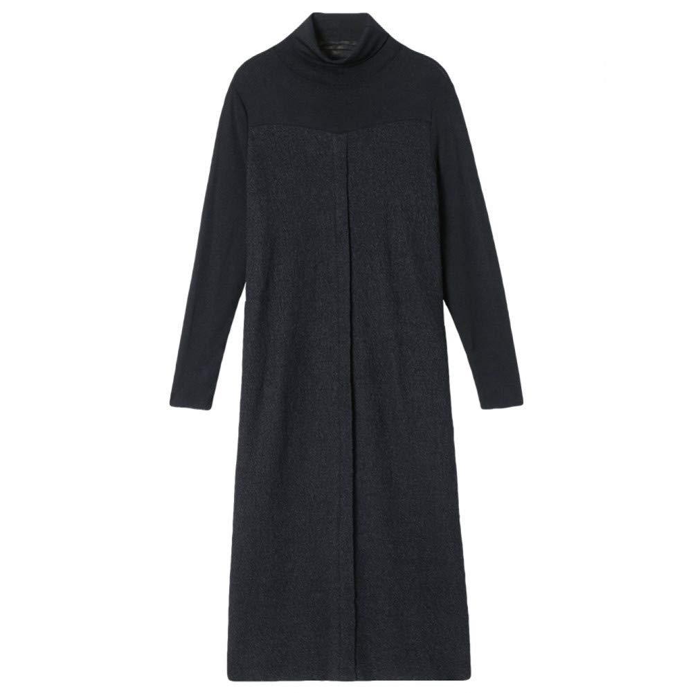 L BINGQZ Cocktail Dresses Autumn and winter dress women's over the knee noble temperament retro dress