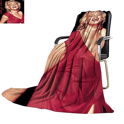 Velvet Touch Ultra Plush,Marilyn Monroe Red Dress Fleece Throw Warm Yourself Printed Fleece Throw Blanket 60