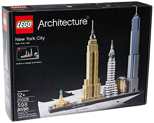 LEGO Architecture New York City 21028, Build It Yourself New York Skyline Model Kit for Adults and Kids (598 ()