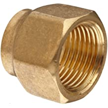 Anderson Metals Brass Compression Tube Fitting, Short Forged Flare Nut, Tube OD