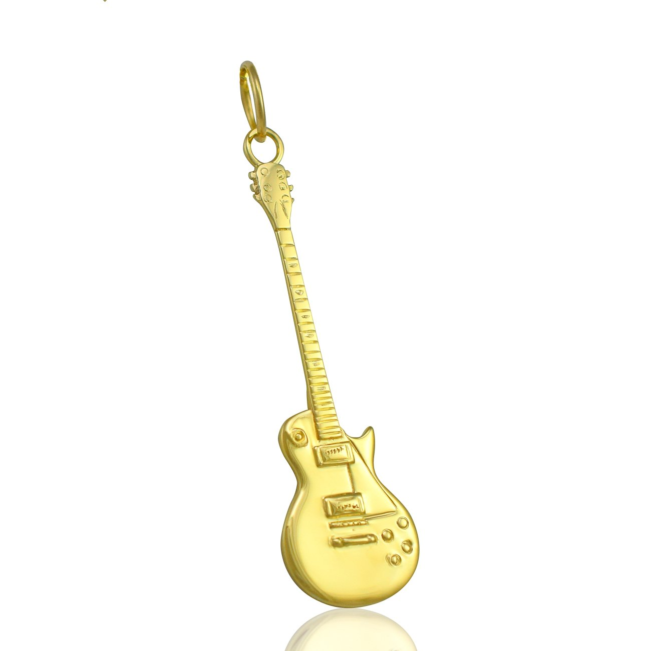 Solid 9ct oro Gibson Les Paul de la guitarra eléctrica - cadena collar 40,64 cm, 45,72 cm, 50,8 cm o colgante sólo 0,0: Guitar-Necklace: Amazon.es: Joyería