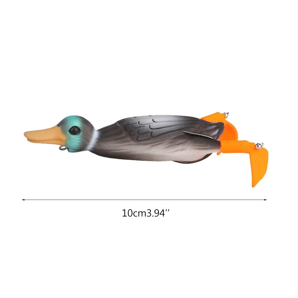 10 cm dise/ño de rana de pato A. 18,5 g HavanaYZ Cebo de pesca suave