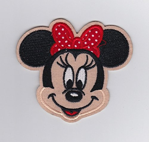 Disney Patch - Minnie Mouse Red Polkadots Bow- Iron on Patches/Sew On/Applique/Embroidered W3.5
