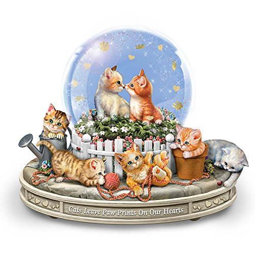 Bradford Exchange Jurgen Scholz Kittens Rotating Musical Glitter Globe: Paws-itively Precious