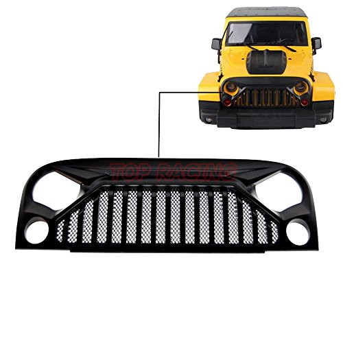 (Air Inlet Grille Front Face With Metal Mesh For RC 1/10 Rock Crawler Axial SCX10 Jeep Wrangler Car Shell)