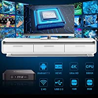 Sidiwen Android 7.1 TV Box T95M 1GB RAM 8GB ROM Amlogic S905X Quad-Core 2.4G WiFi Ethernet Soporte 3D 4K H.265 Smart TV Box: Amazon.es: Electrónica