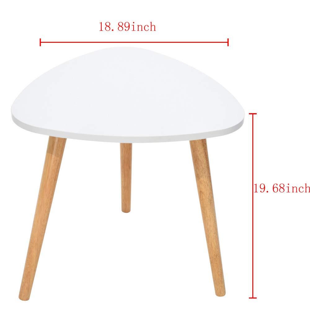 YRD TECH Living Nordic Minimalist Modern Irregular ShapeTable 50×48cm/19.68×18.89 Inch White, 3 Foot (White) by YRD TECH (Image #7)