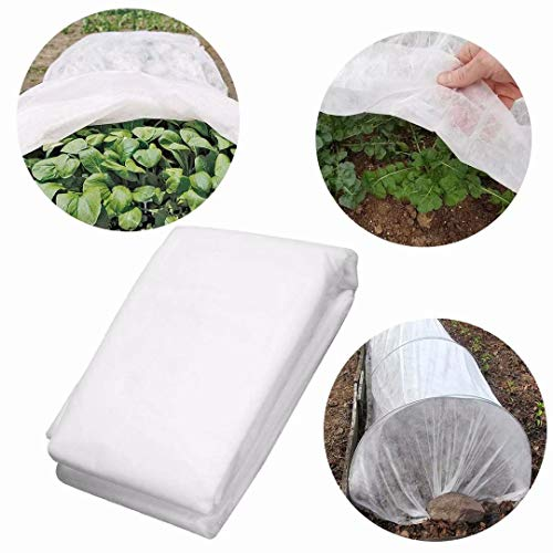 UniEco Fabric Plant Cover – Reusable Floating Row Cover – Frost Blanket for Vegetables and Crops, Light Weight 0.7 Oz, 7′ x 50′