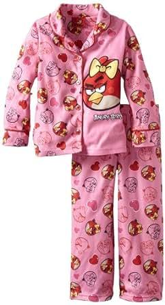 AME Sleepwear Little Girls'  Angry Girl Pajama Set, Multi, 4