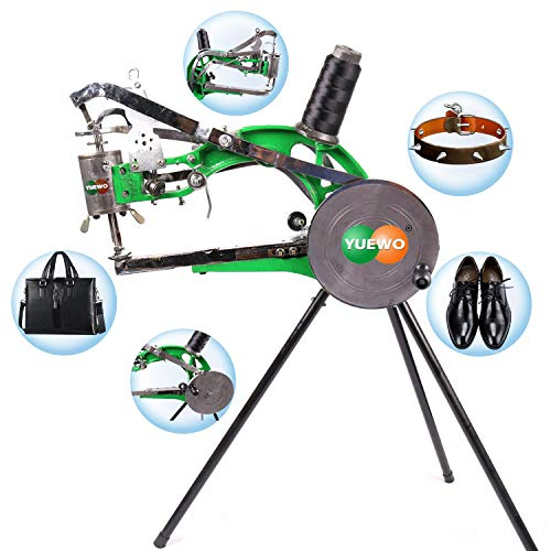 YUEWO DIY Shoe Repair Machine Manual Shoe Mending Sewing Machine Cobbler Shoe Repair Machine Cotton Nylon Line Sewing Machine (Green Machine)