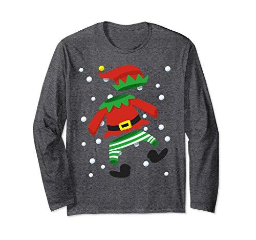Unisex Christmas Costume Long Shirt Elf Merrry Christmas Gift 2XL Dark Heather - Heather Long Costume