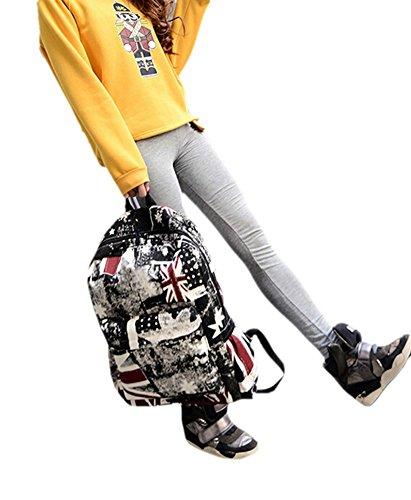 Aiigou bolso de la bandera lienzo viaje mochila ocio escuela mochila bolso de viajes para el - Banera de viaje ...