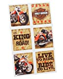 Harley Davidson Stickers (4 sheets) by Hallmark