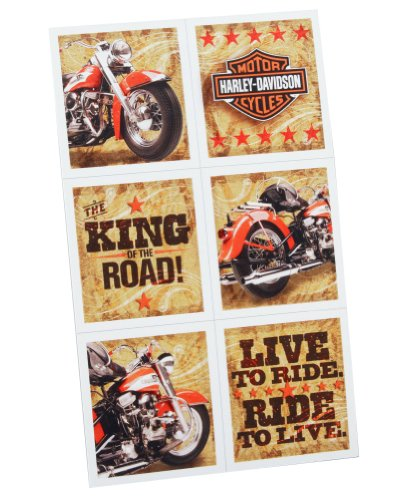 Harley Davidson Stickers (4 sheets) by Hallmark