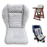 Twoworld High Chair Cushion, Large Thickening Baby Stroller/Car/High Chair Seat Cushion Liner Mat Pad Cover Protector Breathable (Fashion Gray)