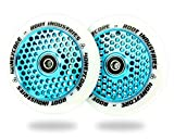Root Industries 110mm Honeycore Wheels (Pair) (White/Blue)