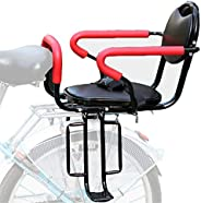 Bicycle Seat for Kids Child Children Infant Toddler, Rear Mount Baby Carrier Seat Safety Bike Carrier Seat wit