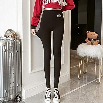 Jingyinyi Pantalones Finos, Pantalones elásticos de algodón Puro, Nueve pantalones-2XL_Negro: Amazon.es: Deportes y aire libre