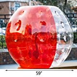 Superland 1.2M/1.5M Inflatable Bumper Ball 4ft/5ft Diameter Bubble Soccer Ball 0.8mm PVC Transparent Material Human Knocker Zorb Ball for Adults and Child (2Pcsx1.5M)