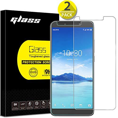 [2 Pack] Alcatel 7/Revvl 2 Plus Screen Protector, Anbel Design 9H Hardness [3D Touch] [Case Friendly] Ultra-Clear Tempered Glass for Alcatel 7/Revvl 2 Plus(Transparent)