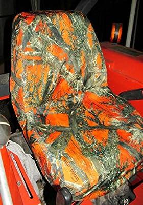 Durafit Seat Covers, KU01 Orange Kubota Seat Covers for tractor L2800,L3400,L4300,L4400,MX5000,MX5100 in Mc2 Orange
