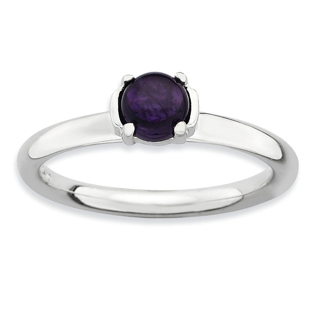 Top 10 Jewelry Gift Sterling Silver Stackable Expressions Polished Amethyst Ring