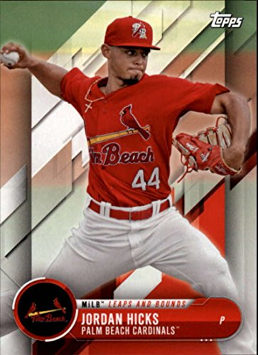 2018 Topps Pro Debut Minor League Baseball Trading Card MLB Leaps and Bounds #LB-JH Jordan Hicks Palm Beach Cardinals