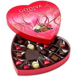 Godiva Chocolatier 20 Piece Valentine's Day Heart Shaped Assorted Chocolates Box