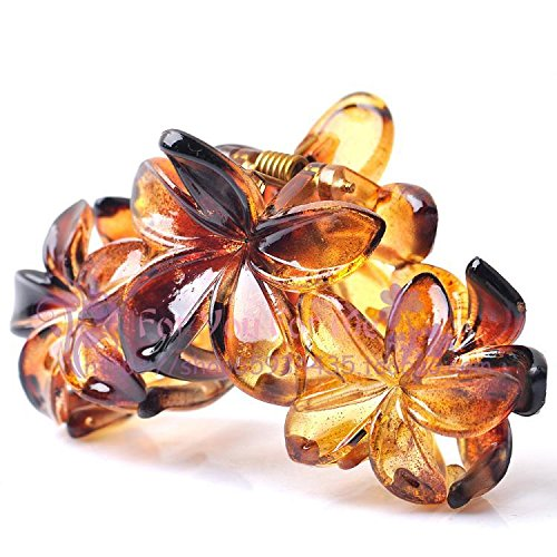 Grip Hoe - Shatterproof resin perspective flower hair grip chuck bath backhoes hairpin clip hair ornaments for women girl lady