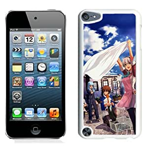 Popular And Unique Designed Cover Case For iPod 5 With Girl Clothes Sky Joy Street white Phone Case