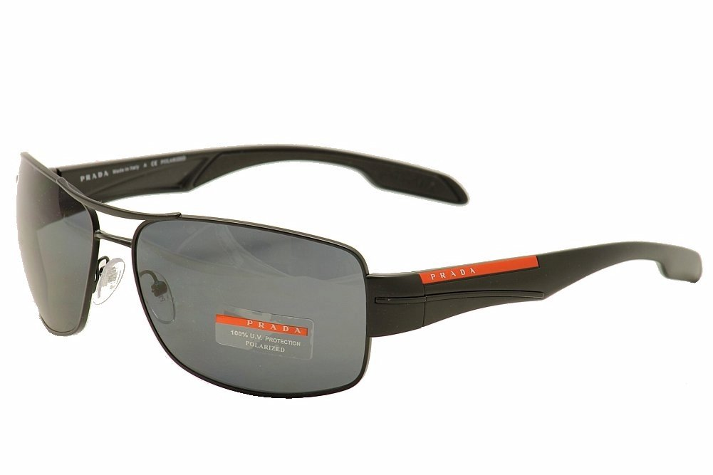ba9f618506 Amazon.com  Prada Sport Sunglasses - PS53NS   Frame  Demi Shiny Black Lens   Gray Polarized  Prada Sport  Sports   Outdoors