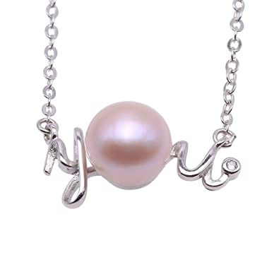 Amazon jyx sterling silver you shaped 7mm pink pearl pendant jyx sterling silver you shaped 7mm pink pearl pendant necklace 18quot aloadofball