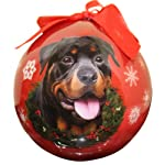 Rottweiler Christmas Ornament Shatter Proof Ball Easy To Personalize A Perfect Gift For Rottweiler Lovers 3